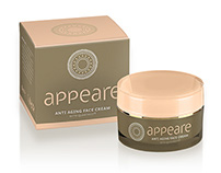 APPEARE logo and packaging