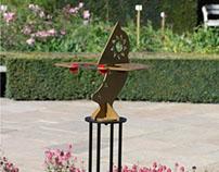 Dihelion sundial sculpture for the garden