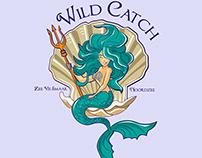 Logo Mermaid and Poseidon