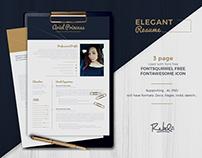 Elegant Resume | CV template - 3 Pages
