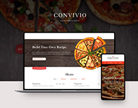 Convivio pizzeria website and logo (2014)