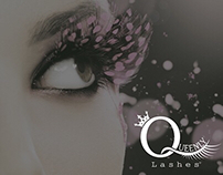 Logo and identity Queenly lashes
