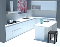 Kitchen Rendering for Client
