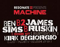 Ben Sims B2b James Ruskin - Resonate Presents Machine