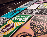Garage Rock Design of the 90s Poster Installation