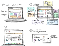 Intranet Wireframe Storyboard