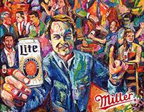 Miller Lite Original Can Painting