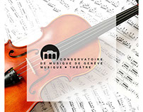 Geneva Conservatory Website Concept