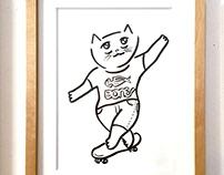 skate cat