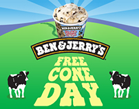 BEN & JERRY - FREE CONE DAY