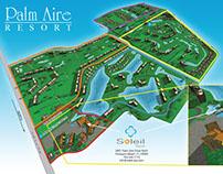 Golf Resort Map Illustration