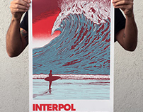 Interpol Mexico gig poster