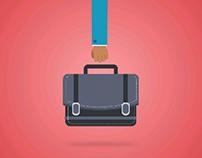 Briefcase Vector Icon Animation