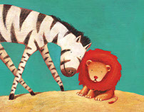 Illustrations for Lion and Zebra