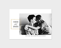 Save the Date Photo Card Template - Modern Minimalist