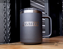 Stainless Steel Metal Mug with Custom Etched Logo
