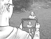 Depth-sensing Photo Editing App Storyboards