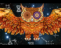 Light Festival drawing Owl