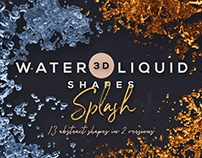Water or Liquid Splash – Free Shapes