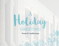 IU Auditorium 2015 Holiday Card