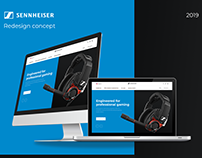 Sennheiser website redesign concept