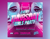 Thursday Party Flyer Templates