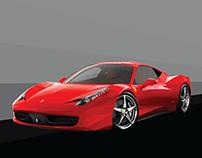 Ferrari 458 Italia lowpoly