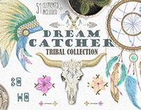 Dreamcatcher. Tribal set