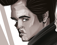 Elvis Presley Caricature Art