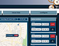 User interface applicaties Timecheckers