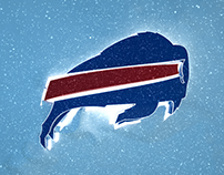 Buffalo Bills Logo in the Snow