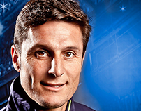 Javier Zanetti - Football player portrait for ADIDAS