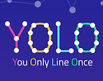 YOLO - One Line Puzzle Drawing