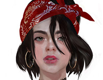 Lily: concept art for a video game