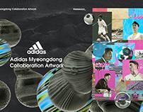 Adidas Myeongdong COLLABORATION ARTWORK 2
