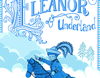 Eleanor of Underland - Poster in Blue