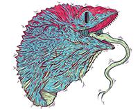 King Lizard - Vector Illustration