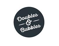 Logo Design/Typography Concepts for Doubles&Bubbles
