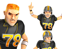 Football 3D characters