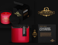 Oro Fragante logotype and product design.