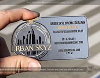 Custom Shape Stainless Steel Business Card