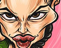 Angelina Jolie caricature