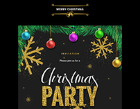 Christmas Party Invitation Email Template PSD