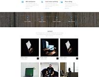 Softfolio- One page portfolio PSD web template