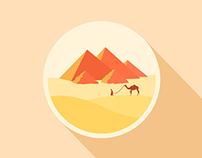 20151014.icon a day.《Pyramid.desert. camel》