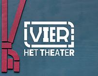 VIER theatre identity