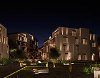 Night exterior render- Illumination stages
