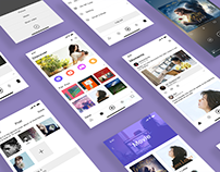 Social & Music App Design