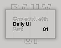 Daily UI 01