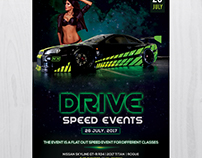 Drive: Speed Event - Free PSD Flyer Template